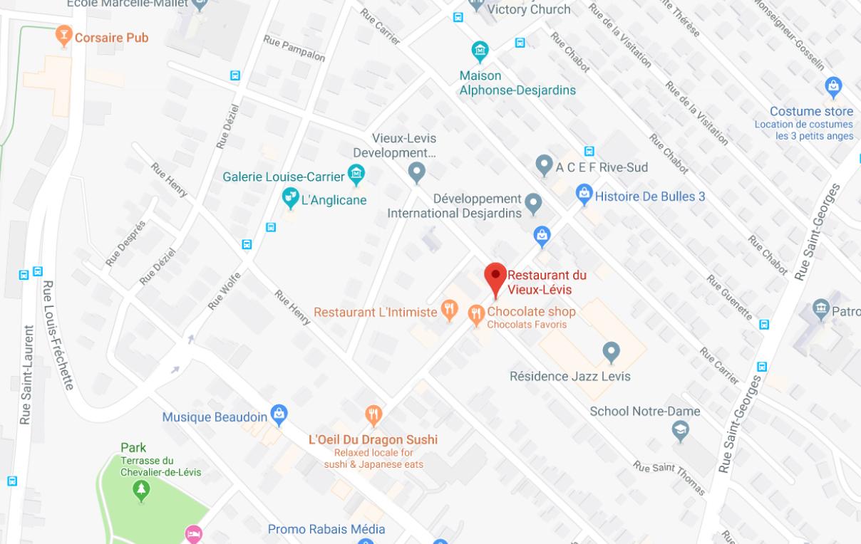 RESTAURANT_VIEUX-LÉVIS_MAP