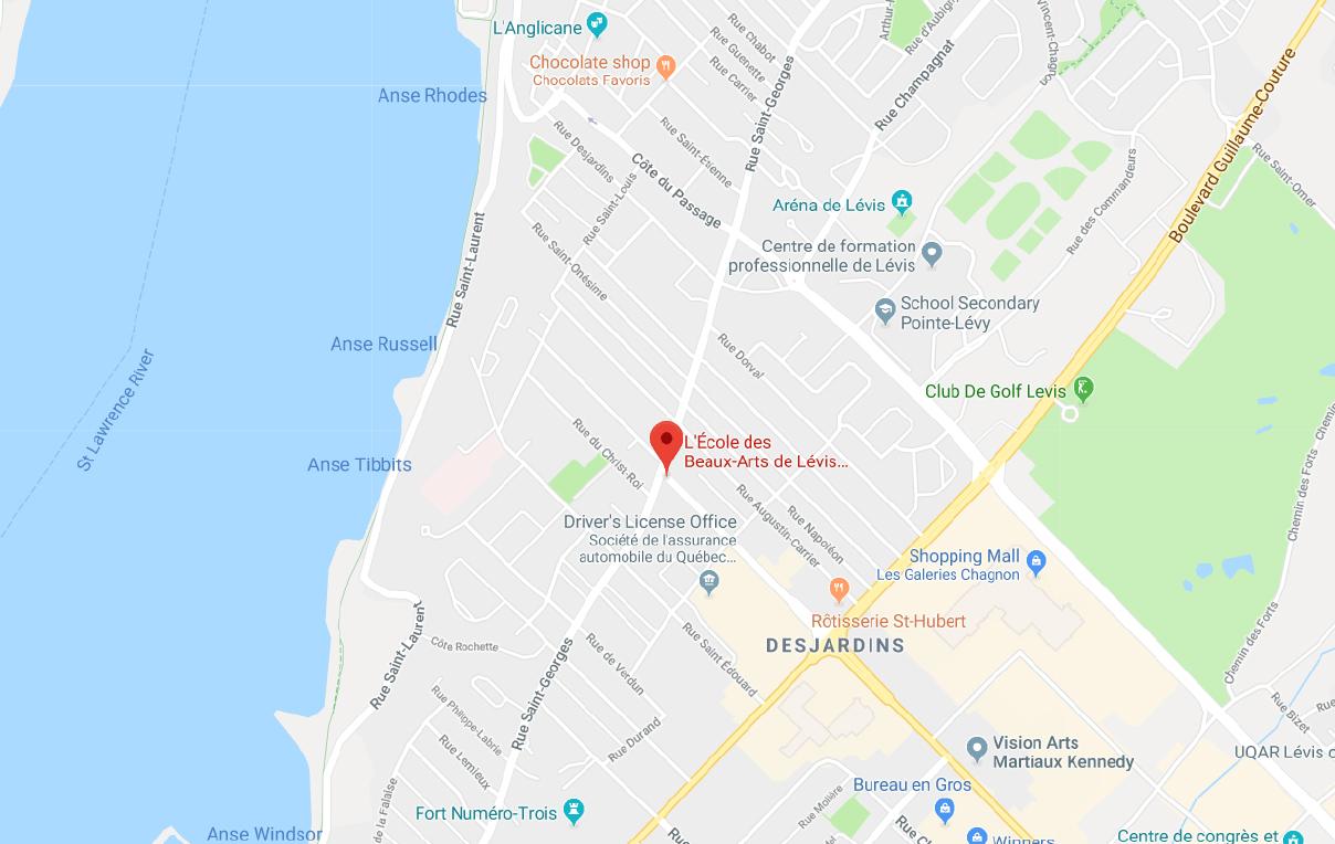 ECOLE_BEAUX-ARTS_LÉVIS_MAP